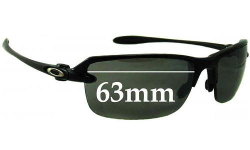 Sunglass Fix Replacement Lenses for Oakley Ice Pick - 63mm Wide **Please measure as there are 2 versions. This one has a screw for the lens on the nose area**
