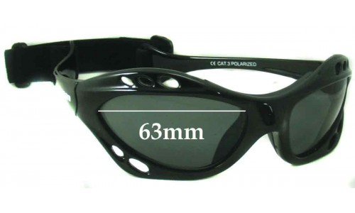 Ocean Eyewear 150001 Replacement Sunglass Lenses - 63mm Wide