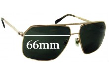 Oliver Peoples Connolly Replacement Sunglass Lenses - 66mm wide