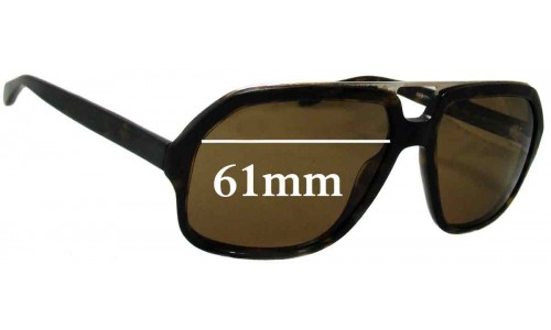 Oliver Peoples OV 5177-S Replacement Sunglass Lenses - 61mm wide