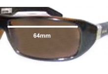 Otis Fidel Replacement Sunglass Lenses - 64mm wide