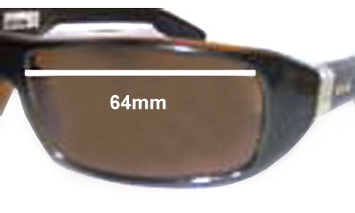 Otis Fidel Replacement Sunglass Lenses - 64mm wide