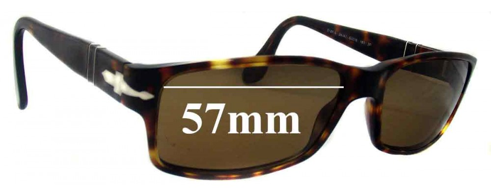 54eb5108b2 Persol 2747-S Replacement Sunglass Lenses - 57mm Wide