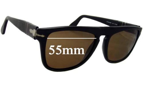 Persol RAP8033BM Replacement Sunglass Lenses - 55mm Wide