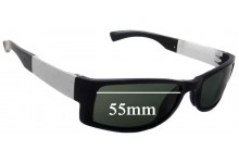 Porsche P'8432 Replacement Sunglass Lenses - 55mm Wide