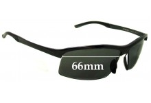 Porsche P'8494 Replacement Sunglass Lenses - 66mm Wide  **The Sunglass Fix cannot make lenses for these frames**