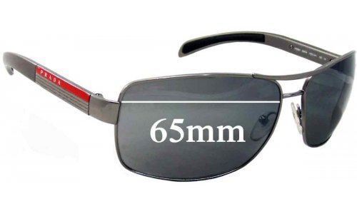 Prada SPS54I Replacement Sunglass Lenses - 65mm wide