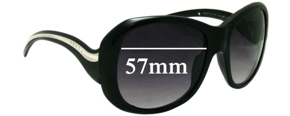 Prada SPR 09L Replacement Sunglass Lenses - 57mm Wide