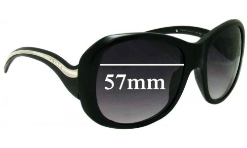 Prada SPR 09L Replacement Sunglass Lenses - 57mm Wide