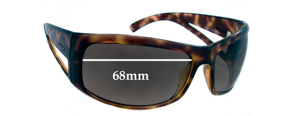 Prada SPR09F Replacement Sunglass Lenses - 68mm lens