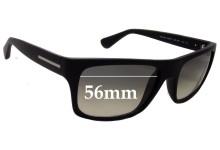 Prada SPR18P Replacement Sunglass Lenses - 56mm wide lens