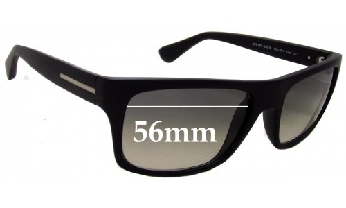 Prada SPR18P Replacement Sunglass Lenses - 56mm wide lens