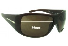 Prada SPR20H Replacement Sunglass Lenses 66MM across