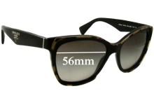 Prada SPR20P Replacement Sunglass Lenses - 56mm wide