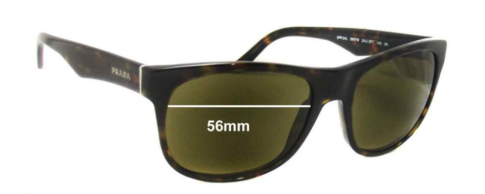 Prada SPR24L Replacement Sunglass Lenses - 56mm wide lens