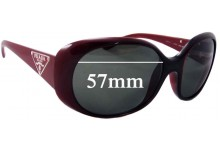 Prada SPR27L Replacement Sunglass Lenses - 57mm wide lens