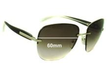 Prada SPR50O Replacement Sunglass Lenses - 60mm wide