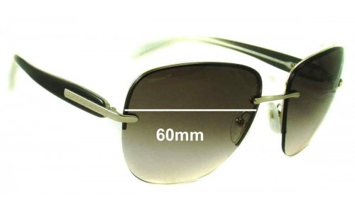 Prada SPR50O Replacement Sunglass Lenses - 60mm wide
