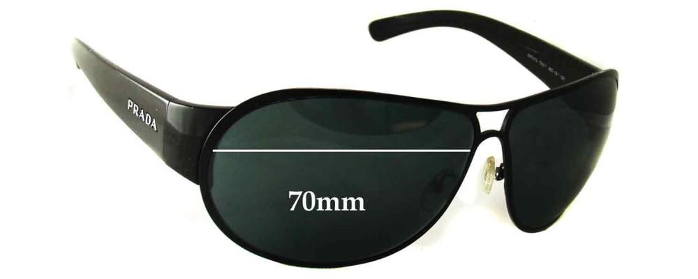 Prada SPR57G Replacement Sunglass Lenses - 70mm lens