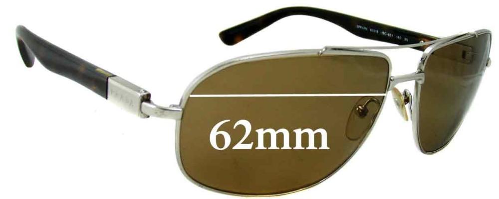 Prada SPR57N Replacement Sunglass Lenses - 62mm wide lens