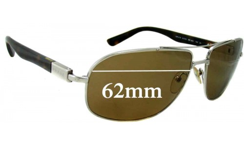 Sunglass Fix Replacement Lenses for Prada SPR57N - 62mm wide lens