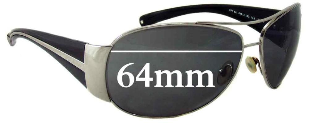 Prada SPR64I Replacement Sunglass Lenses - 64mm Wide