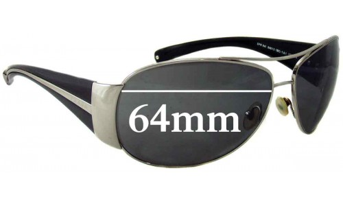 Prada SPR64I Replacement Sunglass Lenses - 64mm Wide