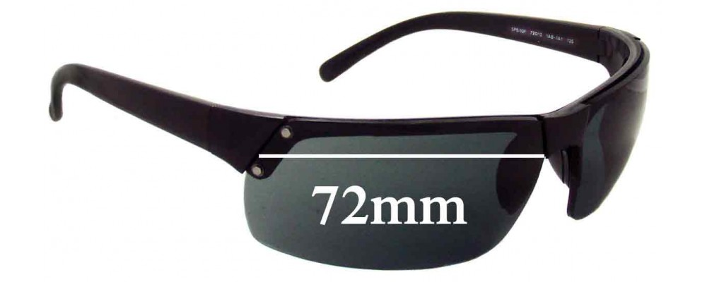 Prada SPS02F Replacement Sunglass Lenses - 72mm wide