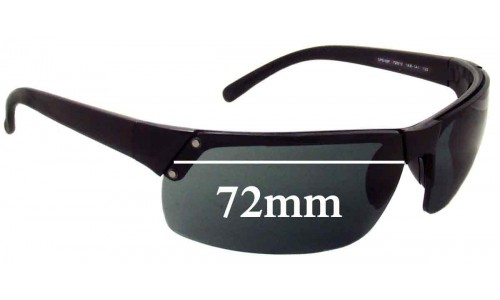 Sunglass Fix Replacement Lenses for Prada SPS02F - 72mm wide