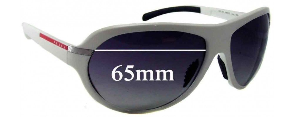 Prada SPS08I Replacement Sunglass Lenses - 65mm wide