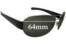 Prada SPS52G Replacement Sunglass Lenses - 65mm wide 45mm tall