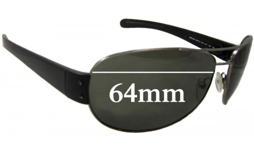 Sunglass Fix Replacement Lenses for Prada SPS52G - 65mm wide 45mm tall