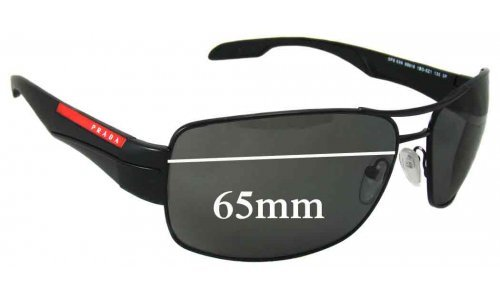 Sunglass Fix Replacement Lenses for Prada SPS53N - 65mm Wide