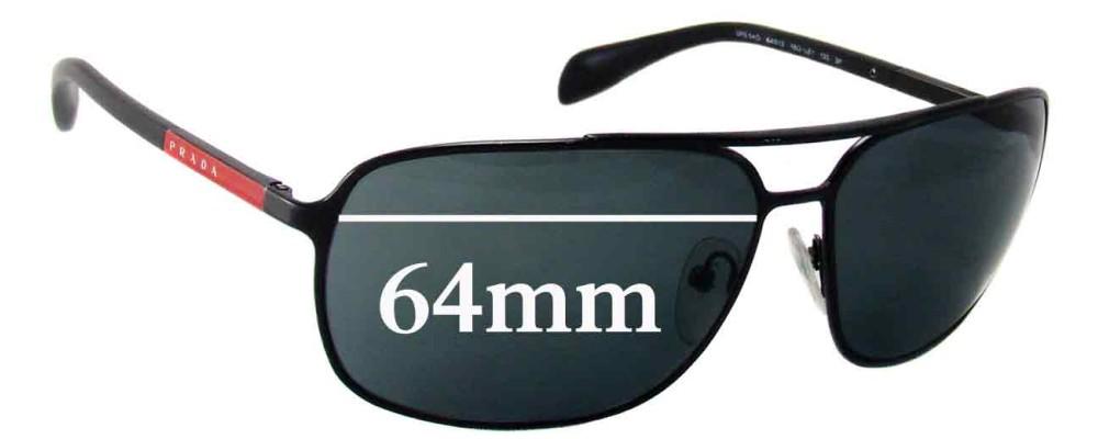 Prada SPS54O Replacement Sunglass Lenses - 64mm wide