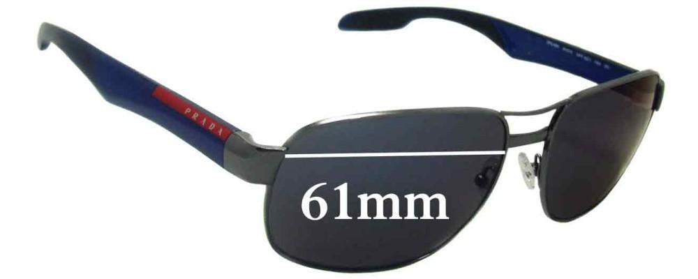 Prada SPS58N Replacement Sunglass Lenses - 61mm wide