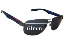 Prada SPS58N Replacement Sunglass Lenses - 61mm wide