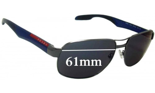 Sunglass Fix Replacement Lenses for Prada SPS58N - 61mm wide