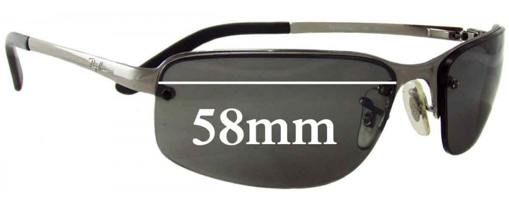 replacement frames for ray ban sunglasses  ray ban ram2062aa replacement sunglass lenses 58mm wide rimless frames