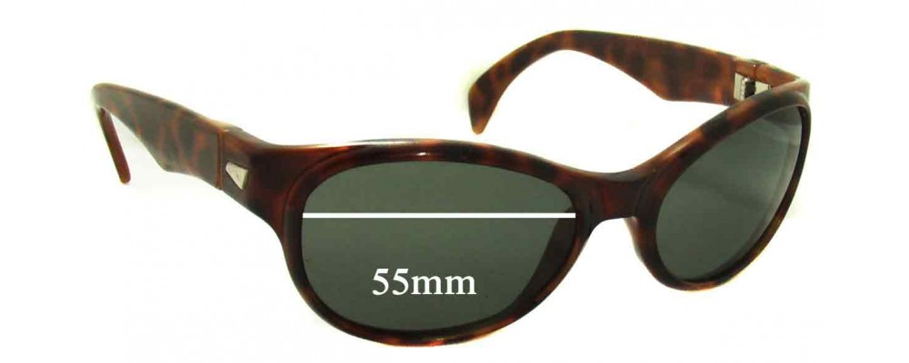 Sunglass Fix Replacement Lenses for Ray Ban Bausch and Lomb 00AW - 55mm Wide