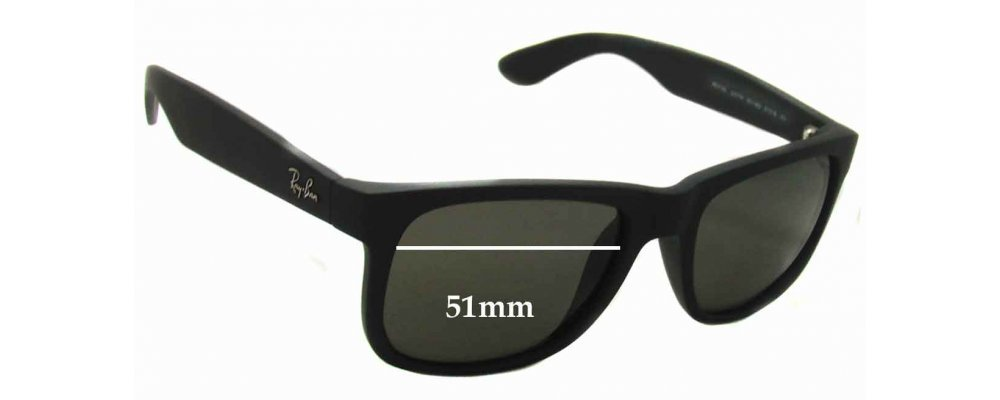 22b9fd070da Ray Ban RB4165 Justin Replacement Sunglass Lenses - 51mm wide