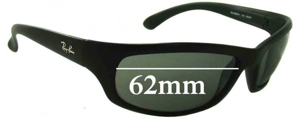 Sunglass Fix Replacement Lenses for Ray Ban RAJ1554 - 62mm Wide *Please measure your lens as size is not indicated on frames*
