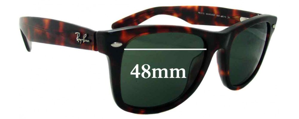 Ray Ban - Outsiders Large Wayfarer Replacement Sunglass Lenses RB2113 - 48mm wide