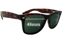 lenses ray ban  ray ban outsiders large wayfarer replacement sunglass lenses rb2113 48mm wide