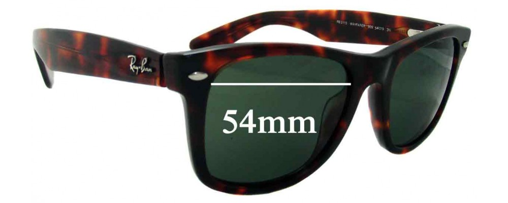 Ray Ban - Outsiders Large Wayfarer Replacement Sunglass Lenses RB2113 - 54mm wide