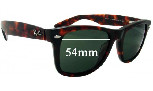Sunglass Fix Replacement Lenses for Ray Ban - Outsiders Large Wayfarer RB2113 - 54mm wide