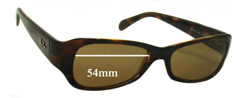 Ray Ban RB2116 Predator Replacement Sunglass Lenses - 54mm wide
