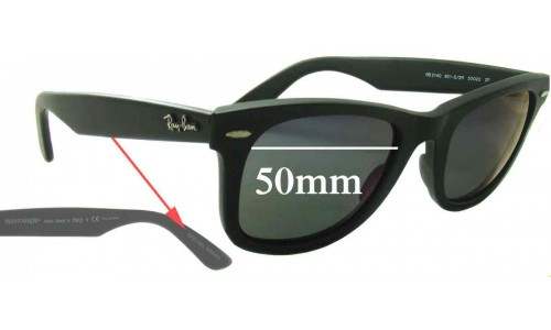 Ray Ban RB2140 Special Series Wayfarer Replacement Sunglass Lenses 50mm wide lenses