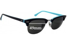 Ray Ban RB2156 New Clubmaster Replacement Sunglass Lenses - 49mm Wide