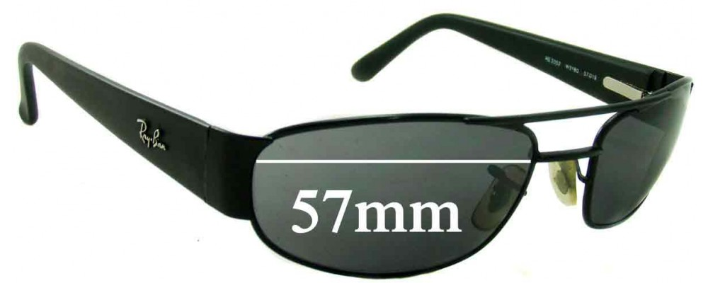 Ray Ban RB3052 Replacement Sunglass Lenses - 57mm Wide