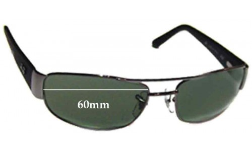 Ray Ban RB3052 Replacement Sunglass Lenses - 60mm Wide